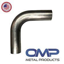 "3"" 90 Degree Aluminized Steel Mandrel Bend 16ga 1.5D Exhaust Tubing 4.5 CLR"
