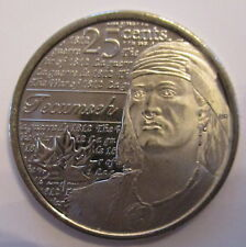 2012 CANADA 25¢ TECUMSEH NON COLOURED BRILLIANT UNCIRCULATED QUARTER COIN