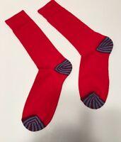 Men's Red w/blu & red Striped toe & heel socks