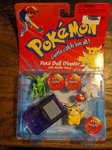 Vintage 1998 Pokemon Pokeball Blaster 3-figure Scyther Pikachu Chansey Hasbro...