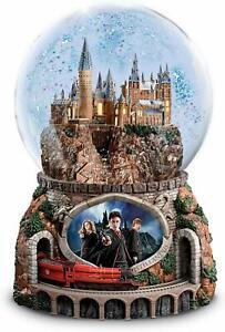 Bradford Exchange The Harry Potter Musical Glitter Globe w/ Rotating Train NEW