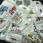 46 colors 2-5mm 400pcs Nail Art Rhinestones Crystal Gems 3D Tips DIY Decoration