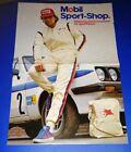 altes Werbe Poster Mobil1 Motoröl, Ford Escort Tourenwagen, Bilstein 80er Jahre