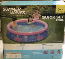 Summer Wave Quick Set Pool 5ft x 15in Swimming Pool Quick & Ez Setup