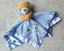 "Baby Starters Boy Blue Teddy Bear Lovey Security Blanket ""Thank Heaven for Boys"""