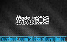 Made in Japan funny JDM Drift Turbo Stance Decal Sticker Car Window WRX GTR JAP