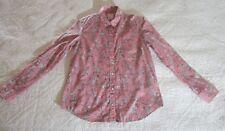 The Gap Womens Shirt XS Pink/White/Black Floral Print Button Down EUC