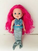 "14"" Rare Cititoy Mermaid Doll Pink Hair Blue Eyes"