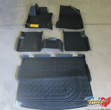 2017-2020 Jeep Compass Front & Rear Black All Weather Floor Mats & Cargo Tray