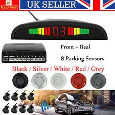 8 Sensors Car Parking Front & Rear Reverse Buzzer Radar LED Display Alarm System