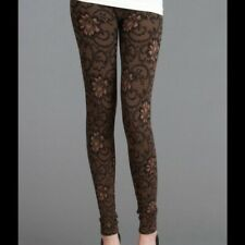 NEW Taupe Floral Zaccardi Leggings by Niki Biki One Size