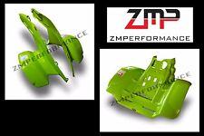NEW HONDA TRX 250R GREEN PLASTIC FRONT AND REAR FENDERS PLASTICS