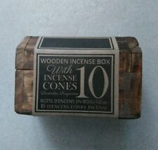 Wooden Incense Box With 10 Incense Lavender Fragrance Cones