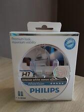 Coffret de 2 lampes PHILIPS H7 12V 55WW + 2 lampes W5W