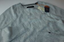 Tommy Bahama Sweater Ocean Crest Crew Silver Grey T414338 New Extra Large XL