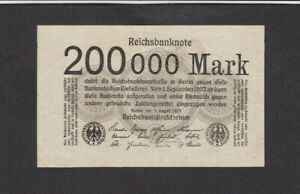 200 000 MARK EXTRA FINE BANKNOTE FROM GERMANY 1923 PICK-99