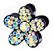 QUALITY Hair Claw using Swarovski Crystal Hairpin Clip Flower Small AB Colorful