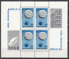 Rumänien / Romana Block 69** (2738**) APOLLO 8 - circumlunar flight