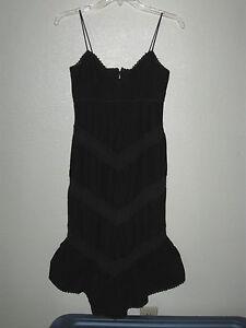 """Womens/Juniors Ralph Lauren 32"""" Bust Size 0 Long Black Dress Spaghetti Strap"""
