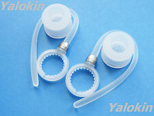 2 White Earhooks and Earbuds for Motorola HX600 Boom Bluetooth Headset Device