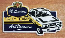 Rothmans Rally Team Ford Escort Mk2 Ari Vatanen Motorsport Sticker Decal