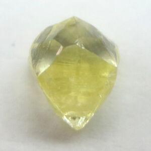 0.64 Carati Decorato Giallo Canarino Cuttable Dodecahedron Naturale Grezzo