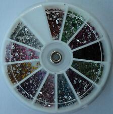 Ruota brillantini GOCCE 12 colori decorazione Nail Art