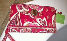 Vera Bradley NWT Rosy Posies Turn Lock Wallet **Pretty**