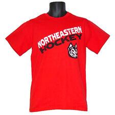 Northeastern Huskies Hockey Angle Red T-Shirt - Large