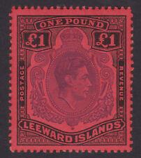 Leeward Islands. SG 114c, £1 violet & black/scarlet. Fine unmounted mint.