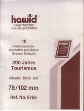 1 Pack.= 10 HAWID-Klemmtaschen schwarz 78x102 mm System Schaufix