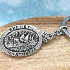 Sydney Opera House Australia Souvenir Pewter Keychain Australiana Gift