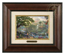 Thomas Kinkade Disney's Jungle Book Framed Brushwork (Burl Frame)