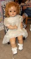 """VINTAGE 24"""" HORSMAN COMPOSITION MAMA BABY DOLL  ORIGINAL WIG TEETH"""