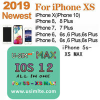 2019 Usim LTE Max Unlock Sim Turbo Card for iPhone 5S-XS MAX iOS 12 new