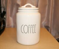 RAE DUNN by Magenta Artisan Collection Large COFFEE Canister White Ceramic