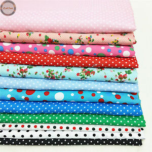Floral Spotted Polka Dots Print Fabric Sewing Quilting Bag Clothing Upholstery