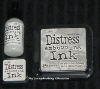 Tim Holtz Ranger DISTRESS EMBOSSING INK x1 (Choose from 3) Non-Toxic Acid Free