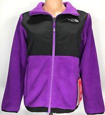Girls North Face DENALI Fleece PURPLE/Black Jacket (Size: X-LARGE 18)