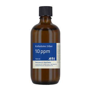 Kolloidales Silber 10 ppm (Silberwasser) - aus Apothekenherstellung