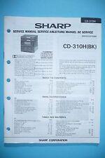 Service-Manual-Instructions pour Sharp CD-310H ,ORIGINAL