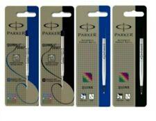 More details for genuine parker ball point / rollerball refill medium fine black /blue uk