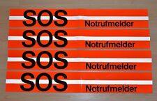 4x SOS Notrufmelder Kennzeichnungsband für gelbe POST Bundespost Telefonzelle