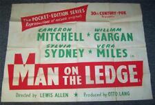 1955 film original poster homme sur une corniche rare années 1950