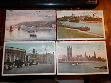 TROIS-RIVIERES QUEBEC CANADA - 4 OLD POSTCARDS - OBAN N.B. SCOTLAND - DUBLIN