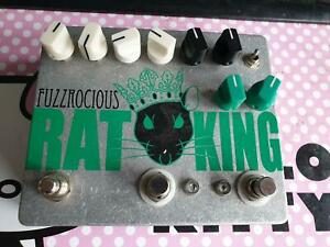Fuzzrocious Rat King, boutique dual channel overdrive pedal for guitar or bass