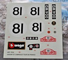 DECAL 1//43 BMW M1 Jens Winther Racing #101 Le Mans 24h 1984 CARTOGRAF BOLOGNA