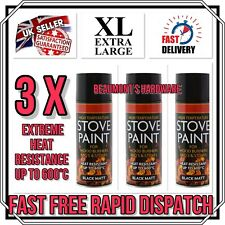 "3 X ""BIG CAN 400ml"" High Temperature Spray Paint Stove Fire BBQ Exhausts *NEW*"