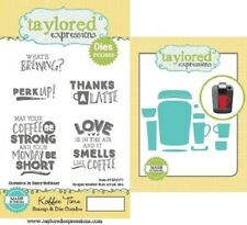 Taylored Expressions Cling Stamp & Die Set Koffee Time Coffee Sentiments