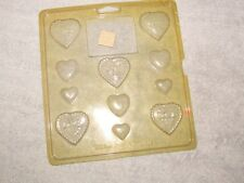 WILTON HEARTS I chocolate candy mold sheet 11 HEART molds  w/instruc